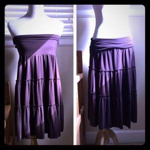 Becca Dresses & Skirts - Brown knit fold over waist skirt/tube dress