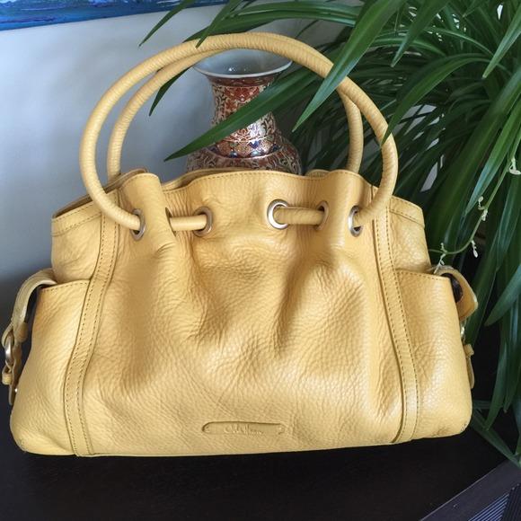 56593b0a16c Cole Haan Handbags - 🔥SALE🔥Large Cole Haan Yellow Leather Handbag