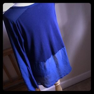 Converse one-star  Tops - Navy blue long sleeve sheer panel t-shirt ❤️ sold