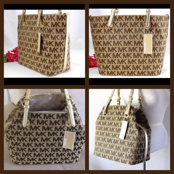 c4a872a5968860 Michael Kors Bags | Jet Set Grab Bag With Gold Trim Purse | Poshmark
