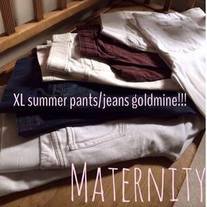 Gap Maternity/Babystyle/Maternal America Pants - Sold ⭐️Huge lot of 6 pair maternity denim/pants