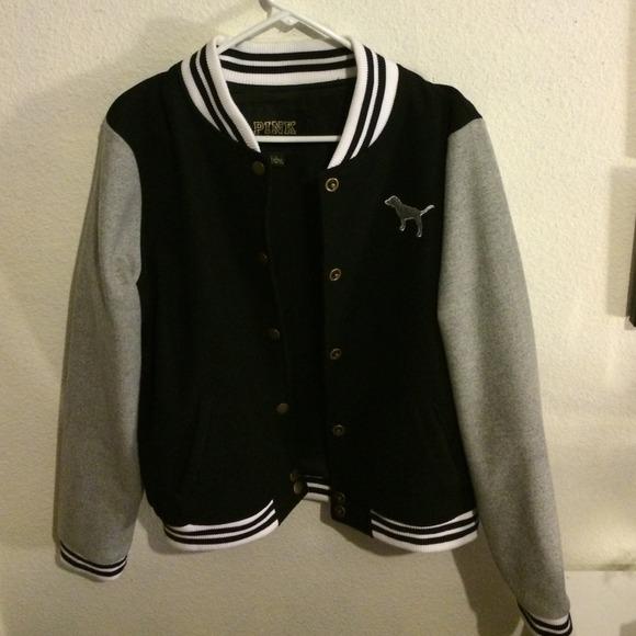 00a0656cb11d1 Victoria's Secret PINK Varsity Jacket.