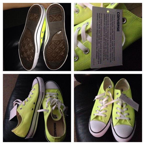 Converse Shoes | Neon Yellow Green