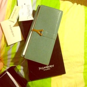 Ysl wallet tiffany blue