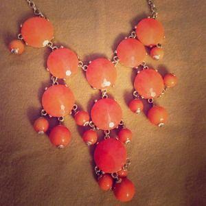 Tangerine bubble necklace
