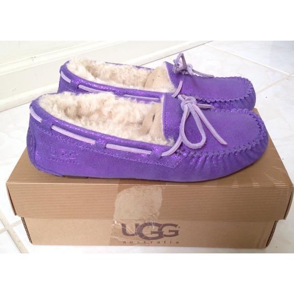 ugg moccasins purple