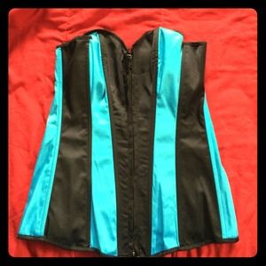 REDUCED!!! NWOT sexy blue & black striped corset