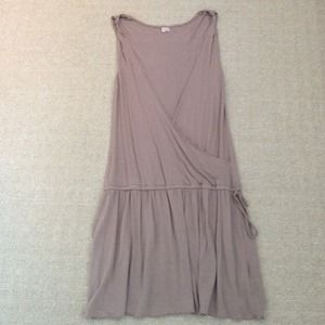Joie taupe drop waist dress