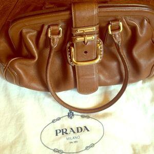 Large Prada ⚡️SALE⚡️all Leather Handbag