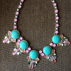 Jewelry - Pretty pink & turquoise statement necklace