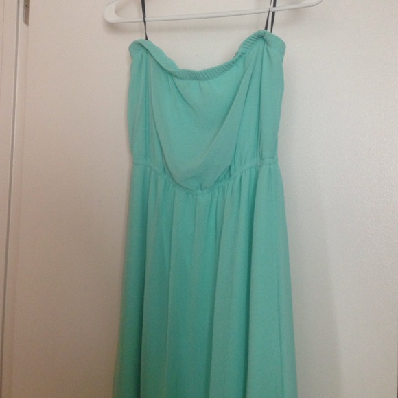 47% off Forever 21 Dresses & Skirts - Mint green strapless maxi ...