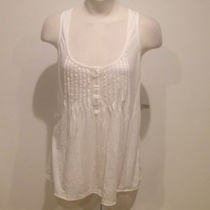 Joie Soft Cotton Pleated Tank Top Shirt