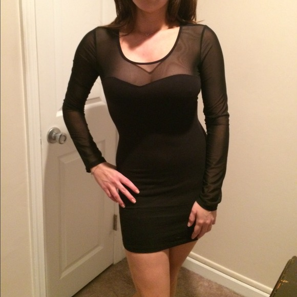 Forever 21 Dresses Beautiful Black Dress With See Through Mesh