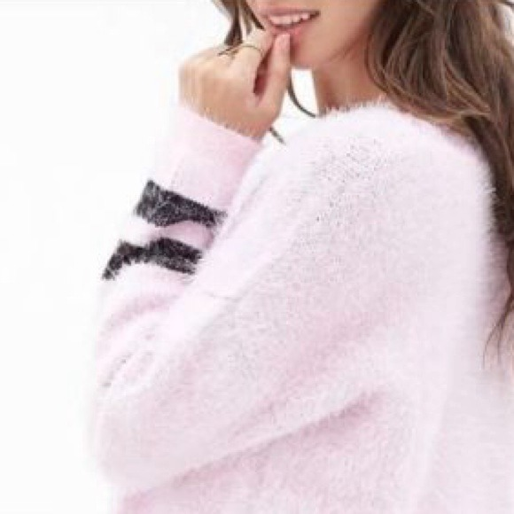 15% off Forever 21 Sweaters - 🎀Barbie Soft Pink EyeLash Sweater ...