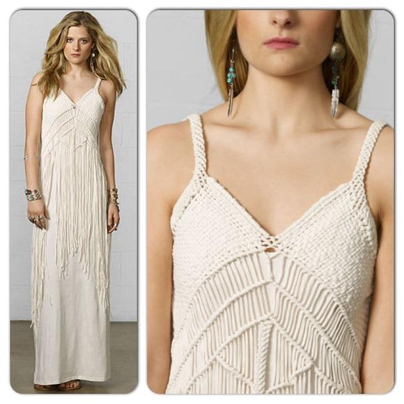 ??Denim \u0026 Supply Ralph Lauren Macrame Maxi Dress