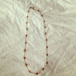 JCrew pink and gold bead necklace