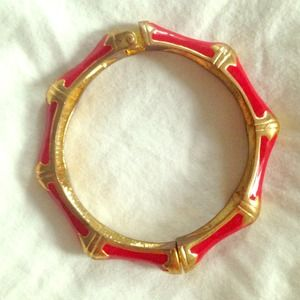 Banana Republic red and gold cuff bracelet