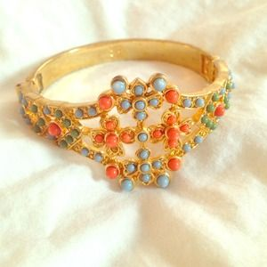 Banana Republic gold, orange and blue cuff