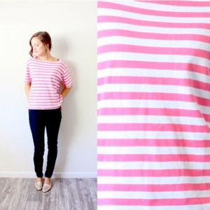 Pink striped vintage retro shirt