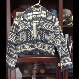 Flashback Aztec Tribal Jacket NWOT!! Unique piece!
