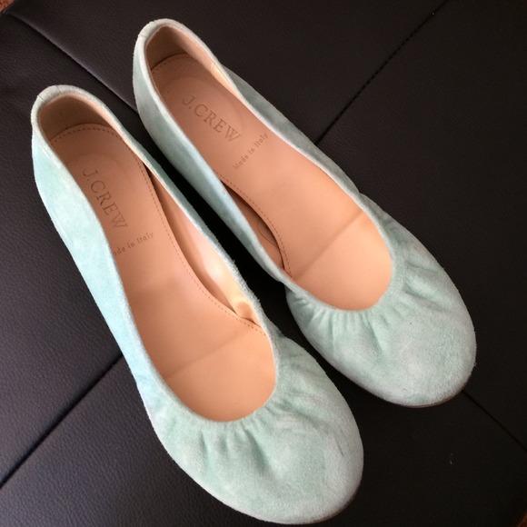 Jcrew Mint Suede Ballet Flats   Poshmark