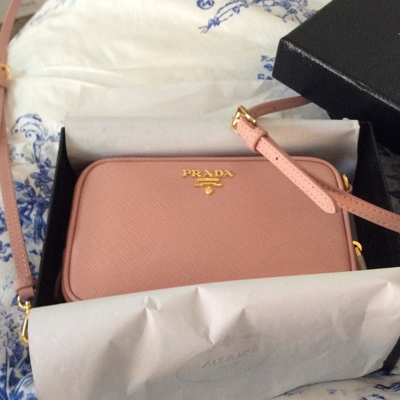 566151d465d722 Prada Bags | Saffano Orchidea Crossbody In Light Pink | Poshmark