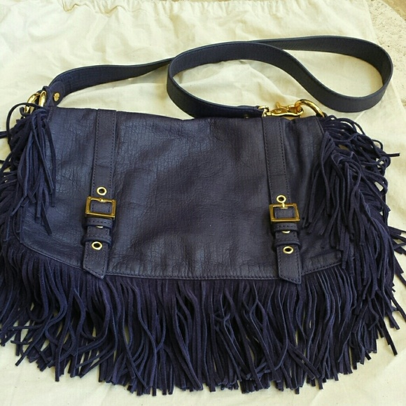 41% off Tory Burch Handbags - Sale! HP! Tory Burch purple fringe ...