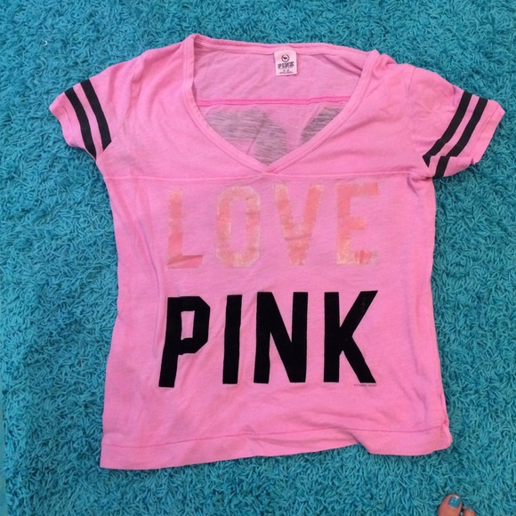 38% off Victoria's Secret Tops - Victoria secret (pink) T-shirt ...