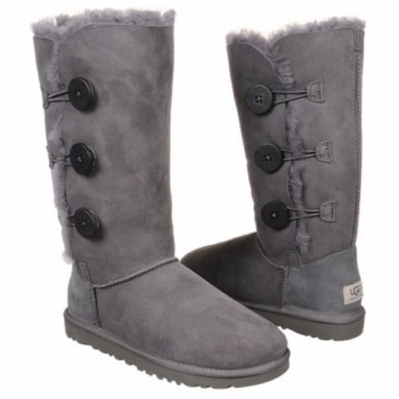 SALE! UGG Bailey Button Triplet Boot in Grey