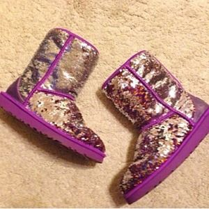 ❗️LAST CALL❗️ Purple Sequin Sparkle Ugg Boot