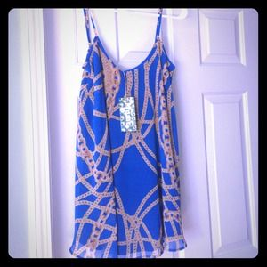 Show Me Your MuMu Blue Chains Bella Dress