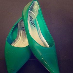 Shoes - Green flats