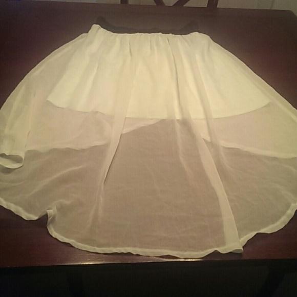 skirts mint green high low skirt