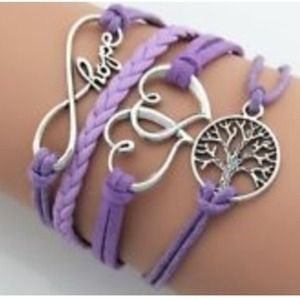 Jewelry - Lilac tree of life infinity hope &hearts bracelet✨