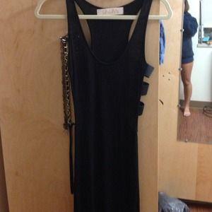 Black cut out maxi dress