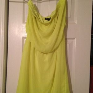 Express lime green dress