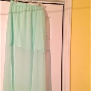 Express mint green maxi skirt