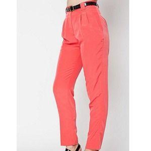 AA high waist pleated pants