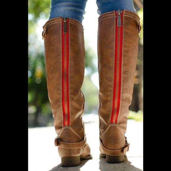 39% off Boots - ❤️SALE❤️Red Zipper Riding Boots from Galaxy's ...