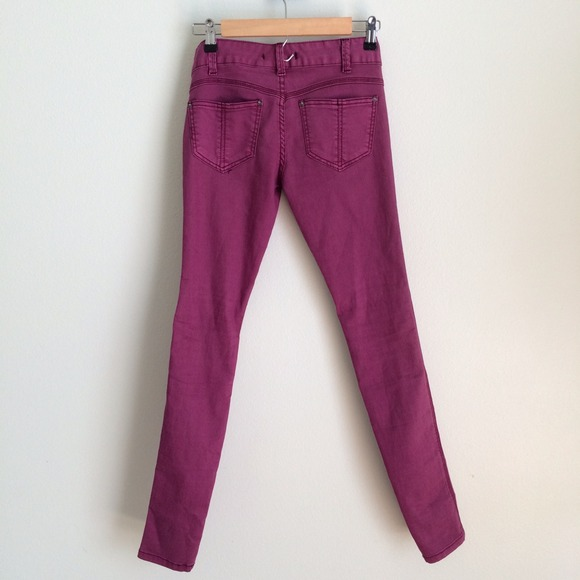 Free People - FREE PEOPLE magenta purple skinny jeans EUC from ...