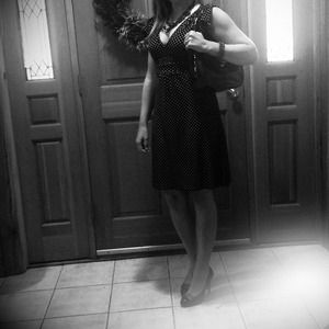 🎉HPX3🎉 Black & white polka dot dress