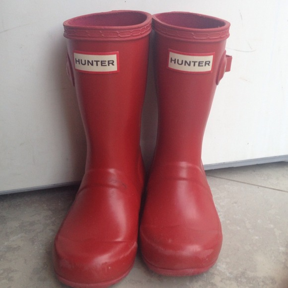 f2e12fd720e Hunter Toddler Rain Boots Red Size 9