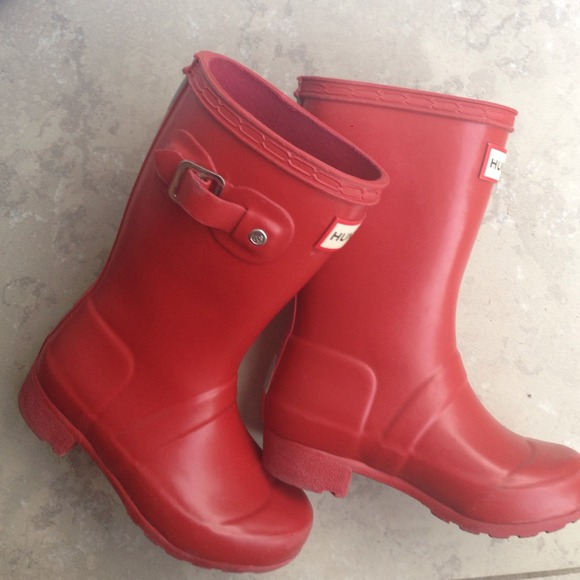 Red Rain Boots For Girls - Boot Hto