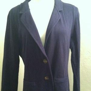 Merona Jackets & Blazers - Merona navy knit blazer with striped lining
