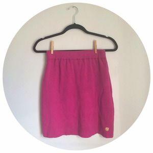 Armor Lux Dresses & Skirts - Fuchsia Merino Wool Skirt