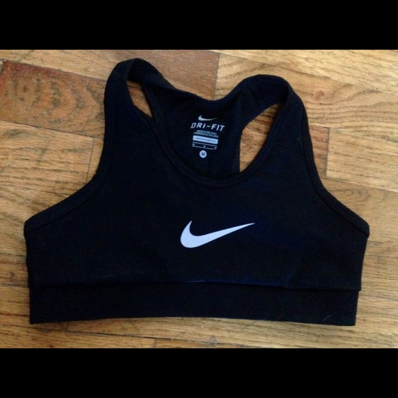 Nike Intimates Sleepwear Black Drifit Sports Bra Poshmark