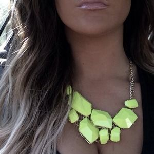 Neon yellow Aldo Statement necklace