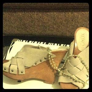 XOXO Suede Sandals