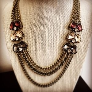 Plum color code 3 row necklace