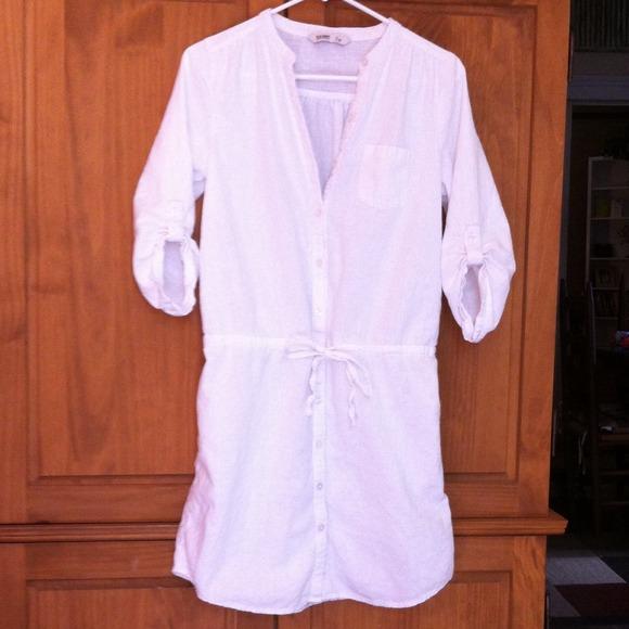 528759dde4c OLD NAVY white linen shirt dress. Women s M. M 54088d6fde4f286d1240d513